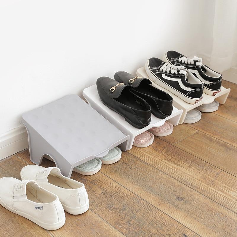 Dikke dubbele schoenenrekken Moderne schoonmaak Opbergschoenen Rek - Home opslag en organisatie - Foto 3