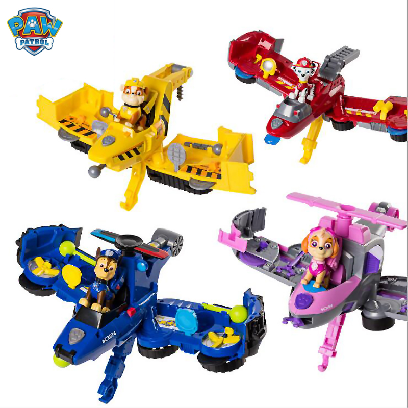 New Paw Patrol Dog Flip Fly Vehicle Toys Can Have Fun With This 2-in-1 Vehicle Transforming From Bulldozer To A Jet Kids