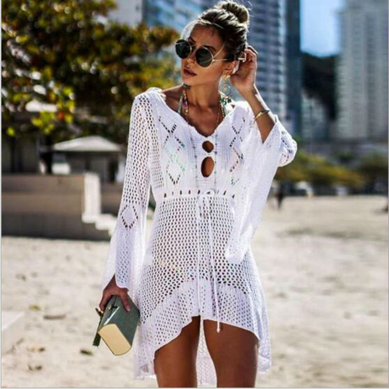 2019 Pareo Summer Swimsuit Beach dress Bikini Cover Up Women Robe De Plage Beach wear Bathing Suit Cover Ups playa Платье