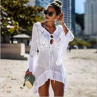 2019 парео летний купальник пляжная одежда бикини накидка женский халат De Plage пляжная одежда накидка на купальный костюм Плайя