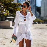2019 pareo verão maiô praia vestido de biquíni cobrir mulheres robe de plage beach wear maiô cobrir ups playa