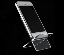 Hot sale 10pcs Mobile cell phone display stand Clear Acrylic shoes holder Action doll/phone/wallet/jewelry display rack цена и фото