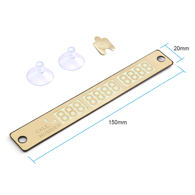 Temporary Car Parking Card Sticker Telephone Number Card Notification Night Light Sucker Plate Car Styling Phone Number Card 4
