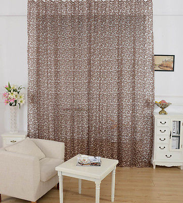 valance curtains for bedroom new arrival peony pattern voile curtain window valance 17682
