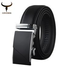 Cowather 2016 высокое качество мужской новый бренд cowgenuine кожаные ремни для мужчин специальное письмо автоматическая пряжка ремня бесплатная доставка(China (Mainland))