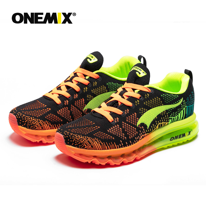 Onemix men s sport running shoes music rhythm men s sneakers breathable mesh outdoor athletic shoe