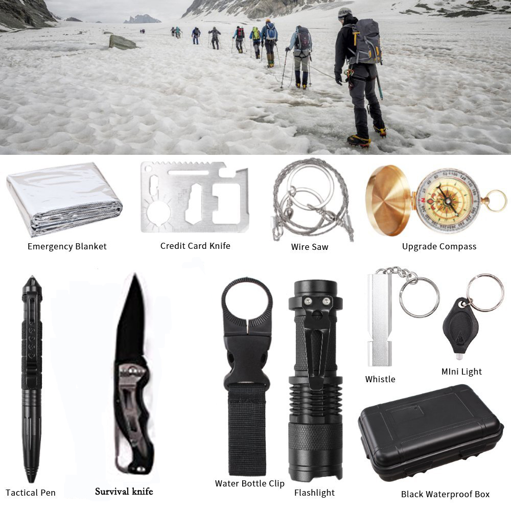 12 In 1 Survival Kit Set Outdoor Camping Travel Multifunction First Aid Sos Emergency Supplies Tactical Survival Kit Military Soft And Antislippery Back To Search Resultssports & Entertainment