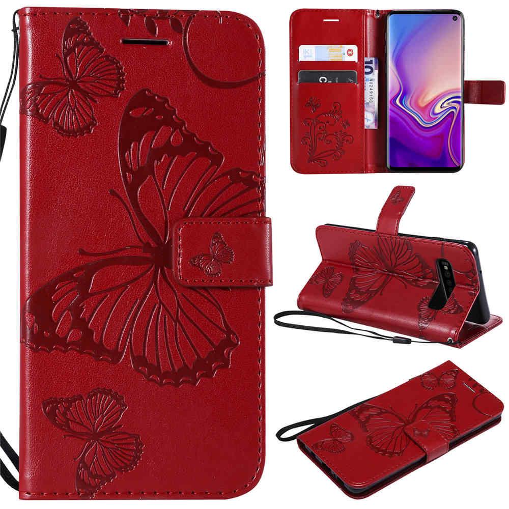3D جلدية حقيبة لهاتف سامسونج غالاكسي S10 S10E S9 S8 زائد حالة محفظة قلابة الهاتف اغلفة السامسونج غالاكسي S8 S9 S10 زائد حالة غطاء