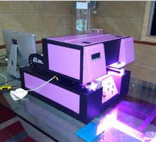 A4 size UV printer for leather sheat,PU bag, PVC plate, Acrylic plate