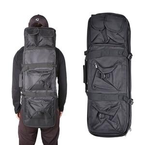 Image 1 - Tático ombro mochila resistente náilon rifle arma coldre bolsa 118cm saco de desporto ao ar livre caça arma saco