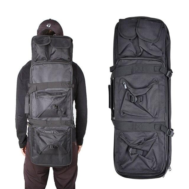 Tático ombro mochila resistente náilon rifle arma coldre bolsa 118cm saco de desporto ao ar livre caça arma saco