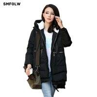 Winter Jacket Women 2016 New Europe Style Fashion Loose Medium Long Autumn Winter Plus Size Down