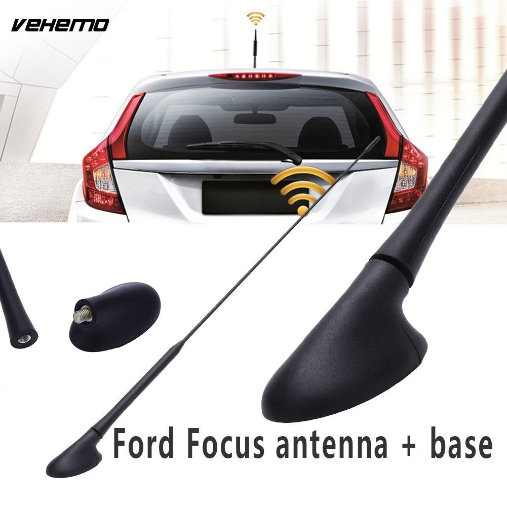 Vehemo avec Base Radio Antenne Aérienne Mât Véhicule Aérienne Antenne Portable Antenne De Voiture pour Ford Focus