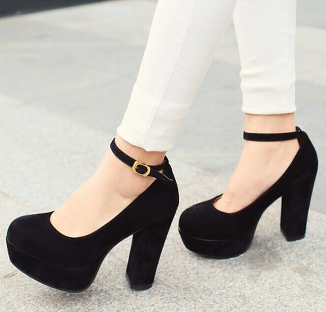 фото туфли на каблуке и на платформе