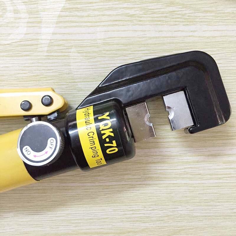 Купить с кэшбэком High Quality Hydraulic Wire Cable Terminal Crimper Crimping Tool Pliers Set YQK-70 Range 4-70mm