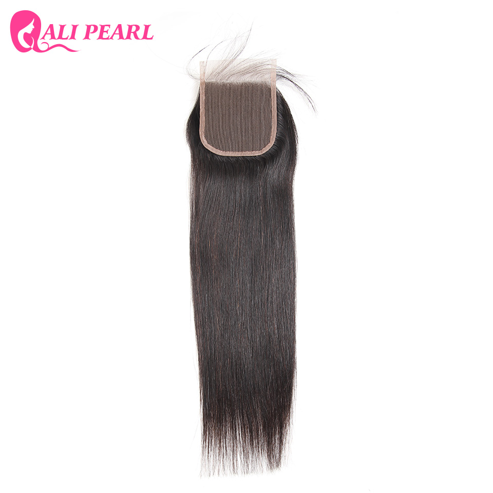 Where to buy hair closures - Order 1 Piece Alipearl Hair Human Hair Lace Closure Brazilian Straight Hair Closure 4x4 Free Part Closure 8