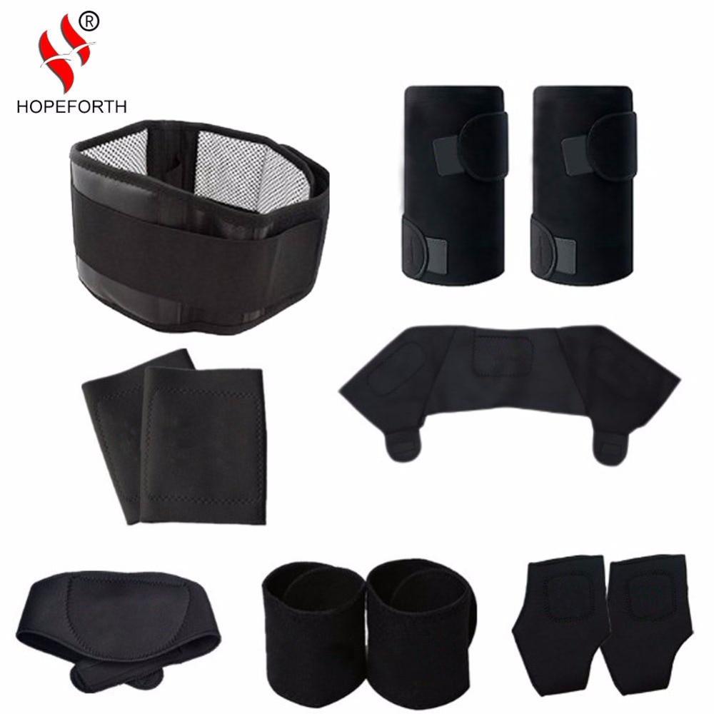 11pcs/set Tourmaline Self-heating Belt Magnetic Therapy Neck Shoulder Posture Correcter Knee Support Brace Massager Products