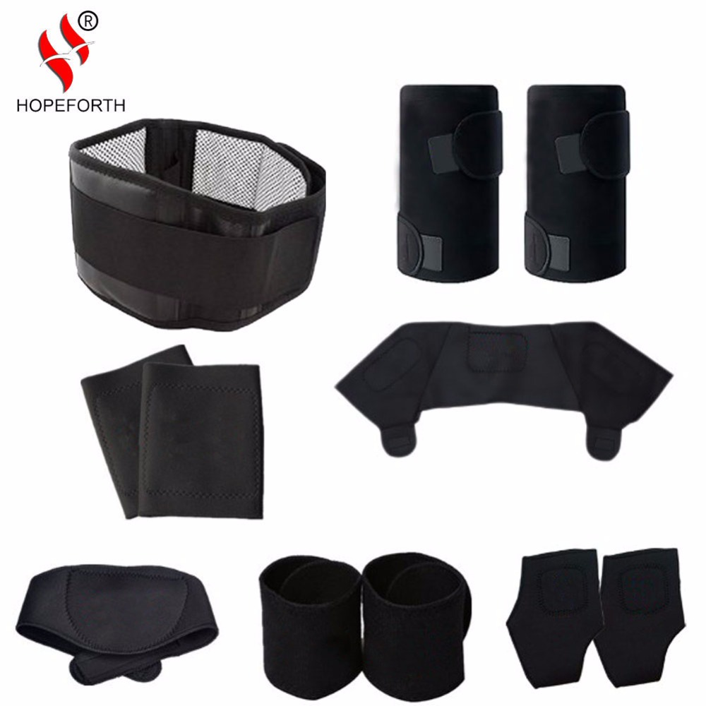 11pcs/set Tourmaline Self-heating Belt Magnetic Therapy Neck Shoulder Posture Correcter Knee Support Brace Massager Products