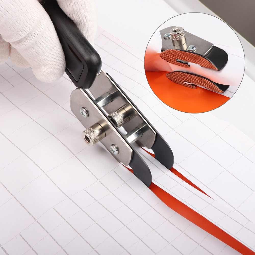 FOSHIO Car Wrap Cut Double-headed Teflon Vinyl Cutter+10Pcs Blade Wall Paper Foil Film Car Sticker Cutting Tools Utility Knife