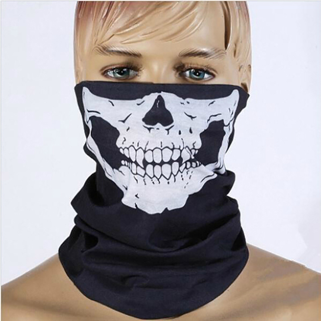Motorcycle Multifunction Cosplay Ghost Skull mask Helmet Neck Face windproof Mask Wild survival mask Party Funny masks