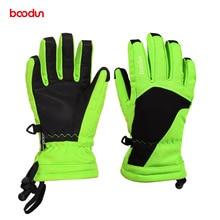 Age 6-12 Waterproof Ski Gloves Kids Boys Girls Winter Sport Snow Board Thermal Fleece Warm Skiing Children