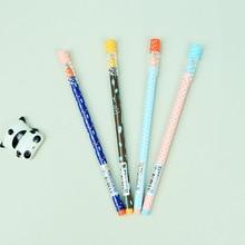 1 Pcs Cute Kawaii Cartoon M&G 0.35mm Gel Ink Pens Blue Black Ink School Office Supplies Stationery Writing Tools Children Kids