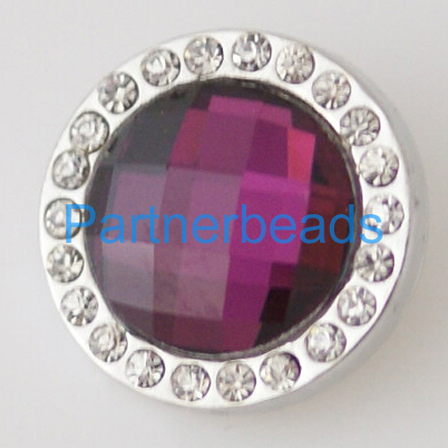 product 20mm Faceted crystal snap button with High quality alloy rhinestone bottom fit snaps jewelry from www partnerbeads com KB3702