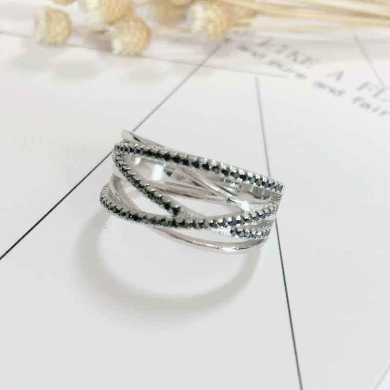 VINTAGE 5.1g 925 เงินสเตอร์ลิงเครื่องประดับอินเทรนด์หมั้น Bague ผู้หญิงงานแต่งงานแหวน G041