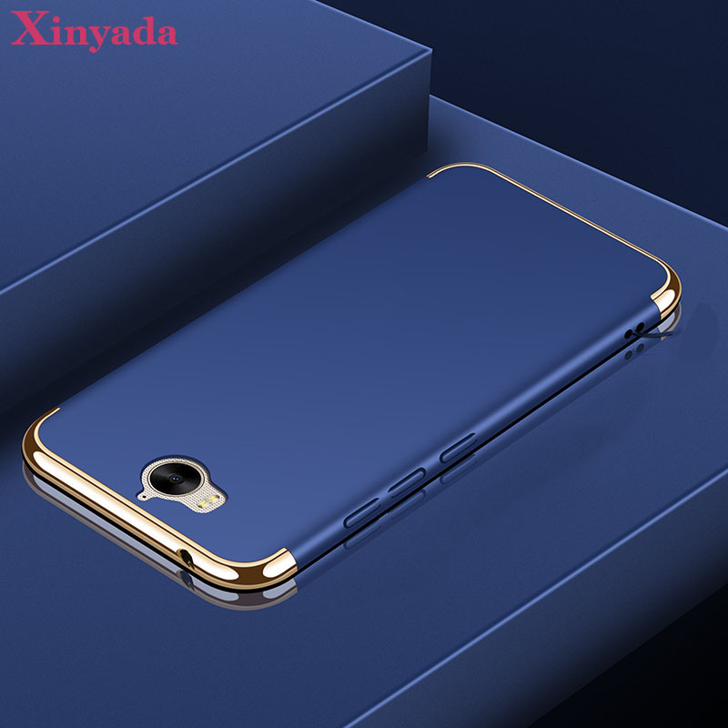 Xinyada Luxury Plastic PC Back Case For Huawei Nova Young Mya L41 L11 Matte Cases Cover 3in1 Plating Coque Shockproof