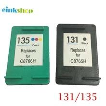 2PK For HP 131 135 Ink Cartridge for Deskjet 460 5743 5940 5943 6843 6940 Photosmart 2573 2613 8753 PSC 1600 1613 2350 2355