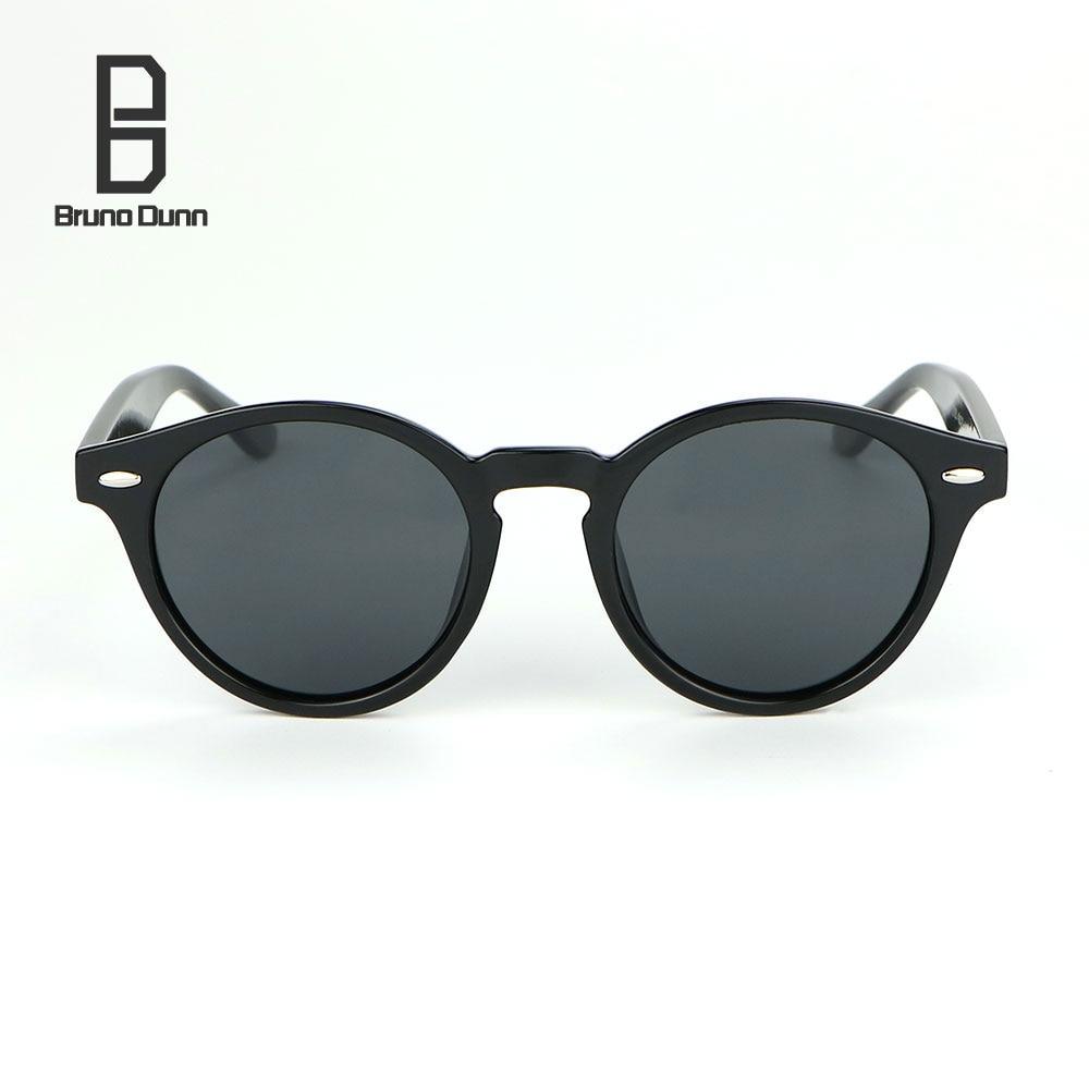 Bruno Dunn Sunglasses Polarized for Women/Men 2018 Luxury Brand Designer lunette de soleil femme Round Sun Glases Female Ray
