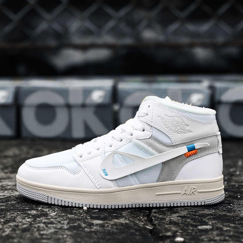 10c0faa24a6853 ... Air Force One 1 Women and Men Sport Shoes Breathable Comfortable White Sneakers  Men s AF 1 ...