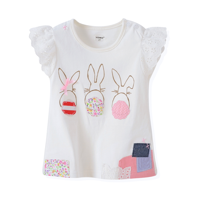 HTB1 MPgPVXXXXX5XXXXq6xXFXXXW - VIDMID baby Girl t-shirt big Girls tees t shirts children blouse t-shirts super quality kids summer clothes rabbit pink brand