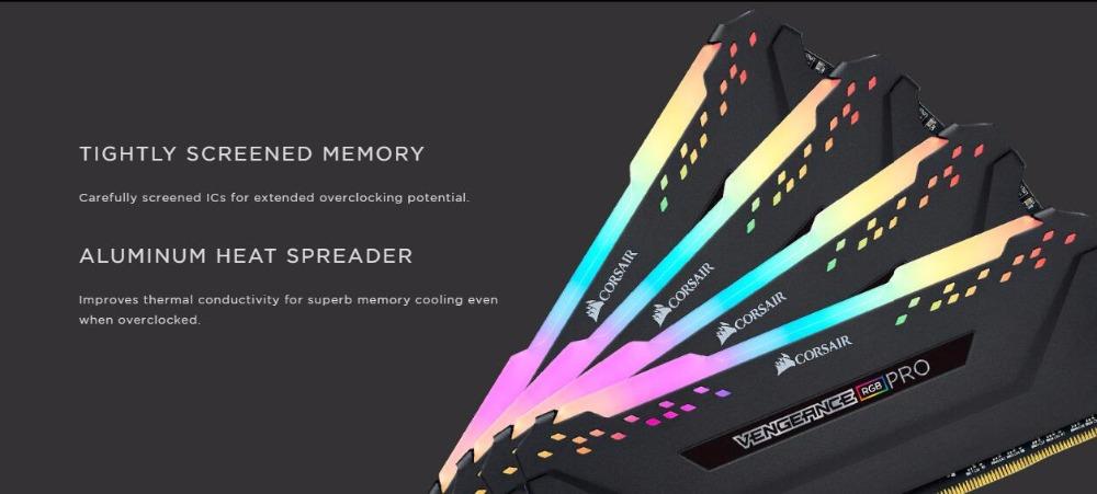 CORSAIR Vengeance DDR4 RGB PRO RAM 2 Piece 8GB Dual-Channel 3000MHz 3200MHz  3600MHz DIMM Desktop Memory Support motherboard