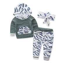 лучшая цена Floral Newborn Baby Clothes Infant Bebes Long Sleeve Hooded T-shirt Tops Pant Trouser 2PCS Outfit Toddler Kids Clothing Set
