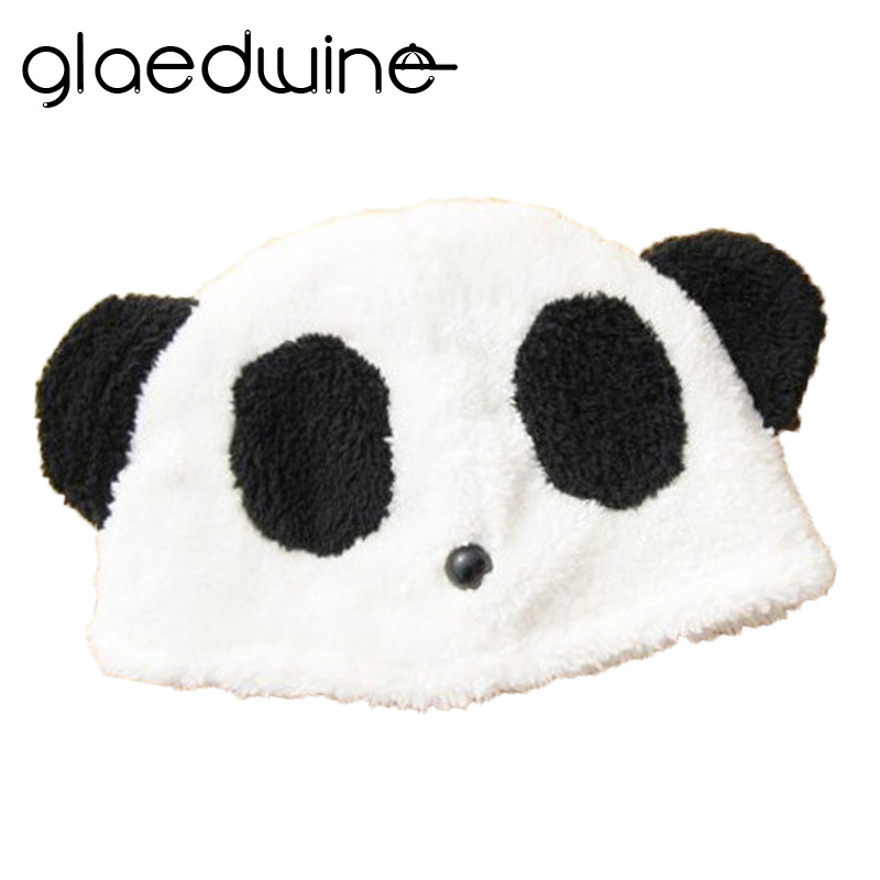 Glaedwine Fashion Lovely Girls Cap   Skullies     Beanies   Women Hat Winter Knitted Hats Kung Fu Panda Hat With Ears Pompom Knitted hat