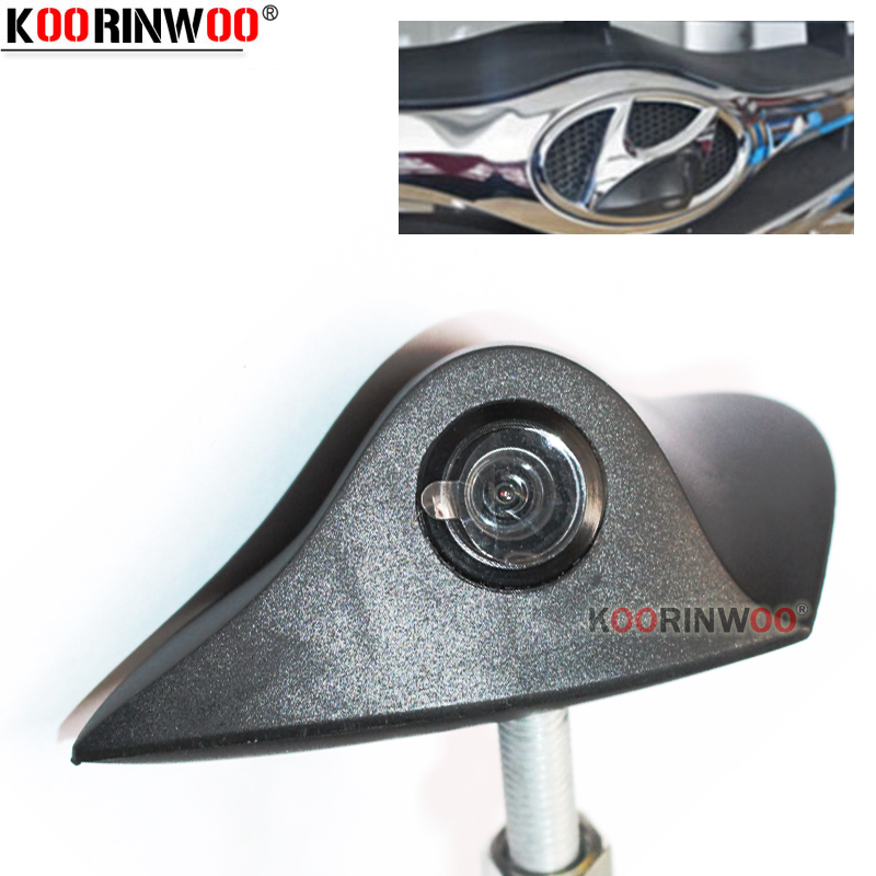 Koorinwoo HD специальная автомобильная камера с логотипом фронтальная камера для Hyundai универсальная цветная парковочная камера 12 В RCA широкая па...