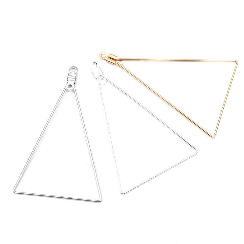 20 sztuk 48x31mm miedzi trójkąt urok wisiorek złącza do naszyjnik diy bransoletka komponenty do znakowania biżuterii akcesoria