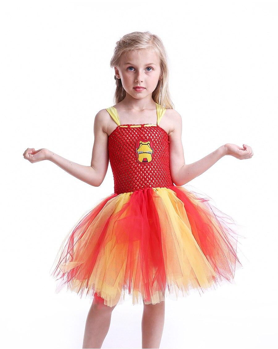 Iron Man Girls Tutu Dress Cartoon Baby Gril Halloween Cosplay Party Dress Handmade Fancy Superhero Inspired (8)