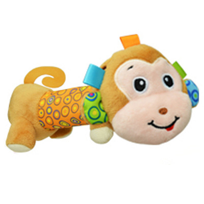 Sozzy Soft Baby Plush Toy Safe Distorting Mirror Squeaker