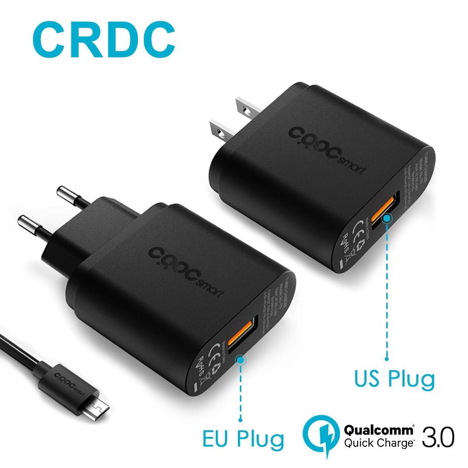 imágenes para CRDC Teléfono Cargador USB Cargador de Carga Rápida 3.0 18 W Rápido (QC 2.0 Compatible) para el iphone Samsung Galaxy s8 Xiaomi mi5 Huawei LG