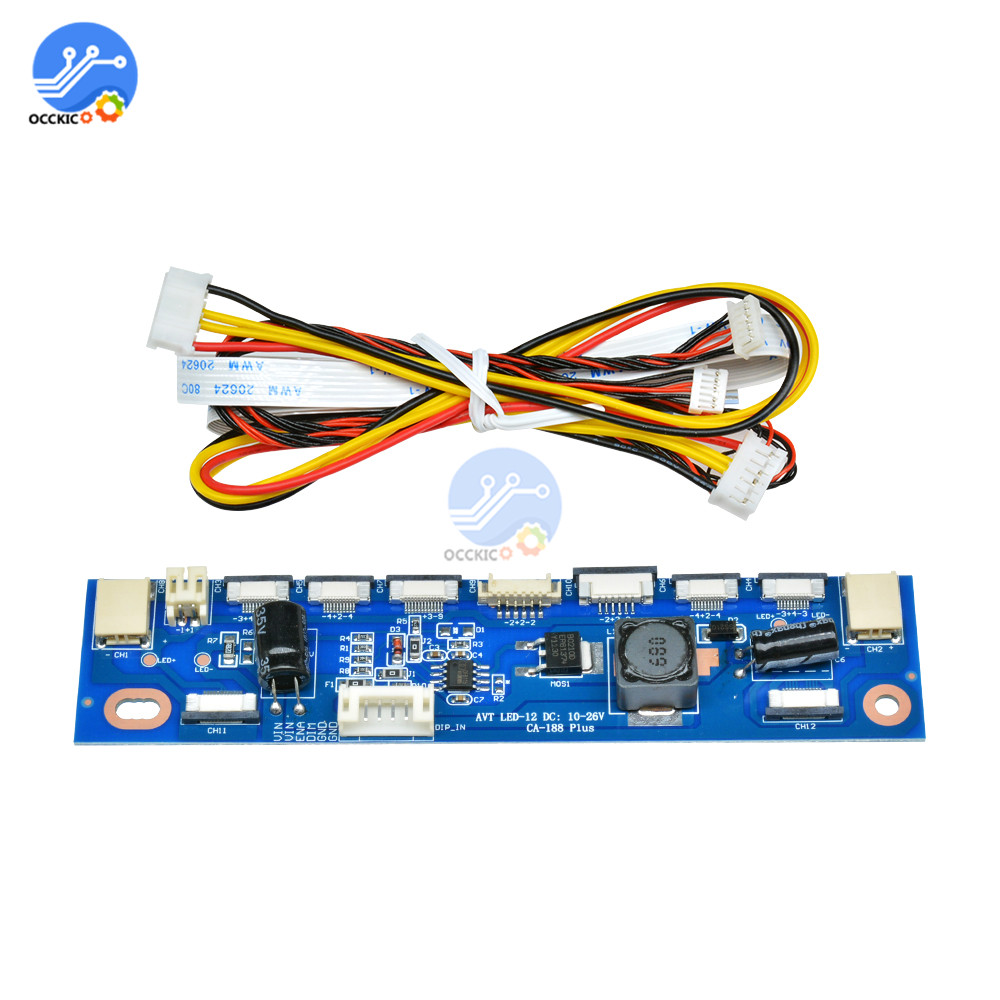 1 Set Multifunction Inverter For Backlight LED Constant Current Board Driver Board 12 Connecters LED Strip Tester