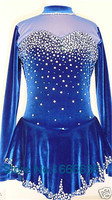 2016 Hot Sales Figure Ice Skating Dresses For Girls New Brand Vogue Figure Skating Competition Customized Dress DR2985