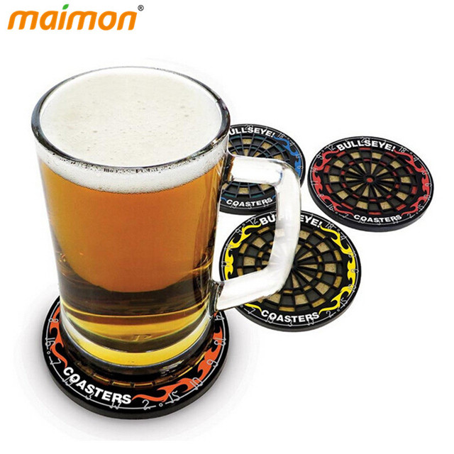 Superior Cool Coasters Part - 14: 4pcs/pack Cool Plastic Dart Board Cup Coaster Kits Anti-skid Beer Beverage  Glass