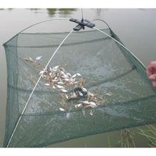 Переносная 60*60 см Складная рыболовная сеть нейлоновая сеть креветка рыболовная сеть рыболовная клетка наружная сетка