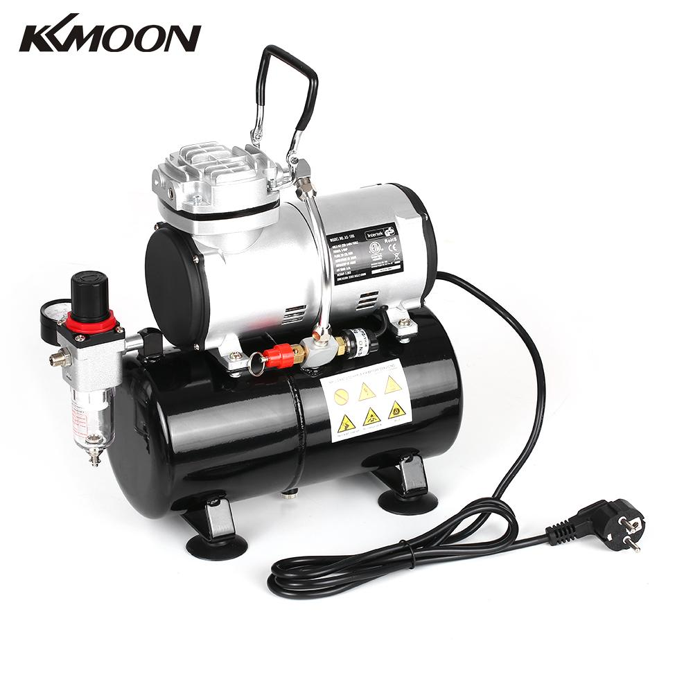 Professional 1 6 HP Piston Airbrush Spray gun Oil less Quiet High pressure Pump Tattoo Manicure
