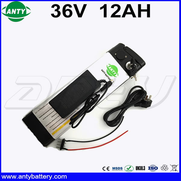 Electric Bicycle Battery 36v 12ah 350W Lithium ion Battery 36v With 42v 2A Charger 15A BMS eBike Battery 36v Free Shipping