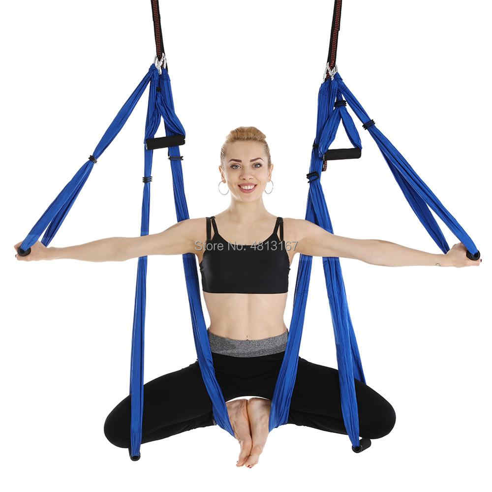 Nowear Aerial Yoga Swing Flying Hammock Set Anti Gravity Belt Anti Gravity Yoga Hammock 6 Hand Grip Hanging Chair Kit Fitness Pilates Swing Belt Yoga Fitness