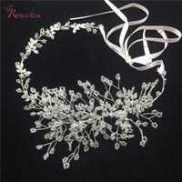 Wedding Hair Accessories Handmade Headpiece Charming Crystal Flower Headband Bride Tiaras Floral Hair Jewelry RE746