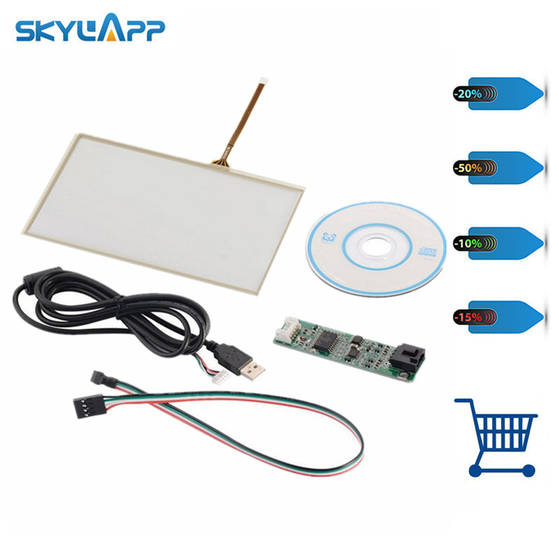 Skylarpu 7 inch for 165mm*100mm Touchscreen Panel Kit for AT070TN90 Raspberry Pi Screen GPS touch screen digitizer panel glass